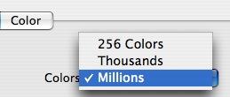 Mac OS 的颜色设置